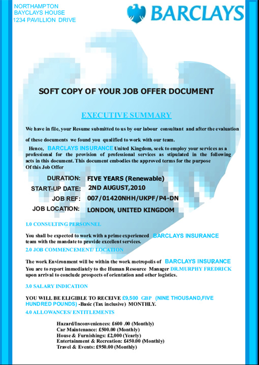 A scam targeting job seekers in india its a miracle page 1 of fraudulent job offer thecheapjerseys Choice Image